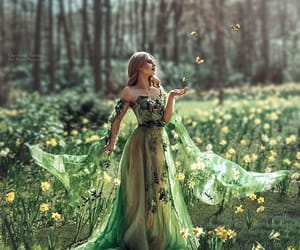 butterfly, fairytale, and flowers image