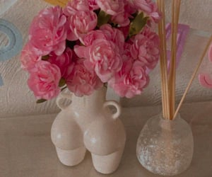 flower, pink, and bello image