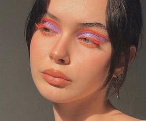makeup, orange, and purple image