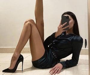 black, silk, and heels image