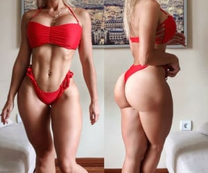 workout, muscle thighs, and abs image