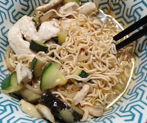 asian, Chicken, and home cooked image