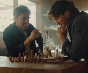 aesthetic, blue eyes, and chess image
