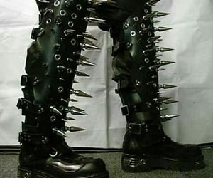 boots, spikes, and goth image
