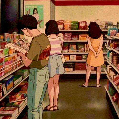 anime, aesthetic, and vintage image