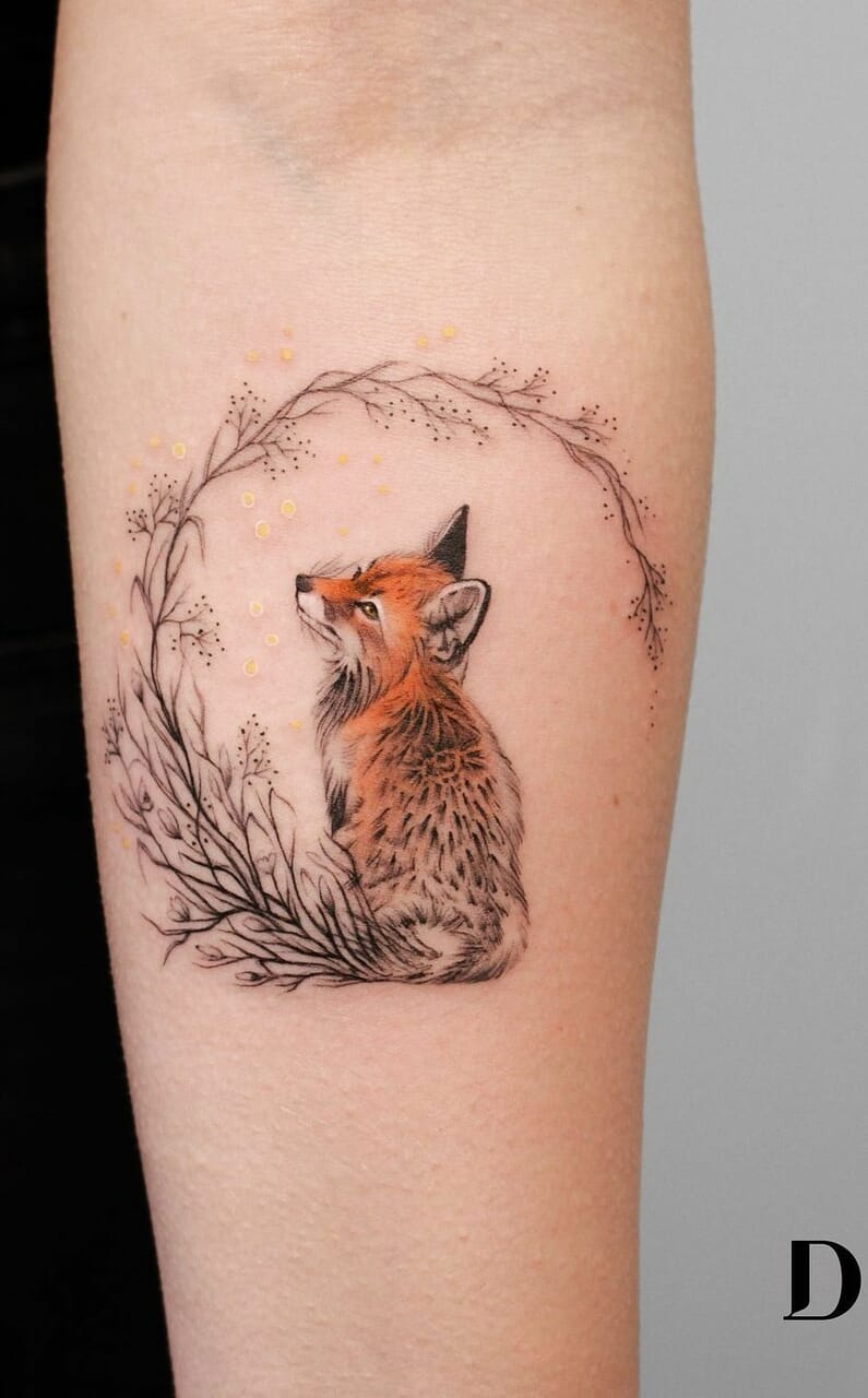 animals, volpe, and tattoo image