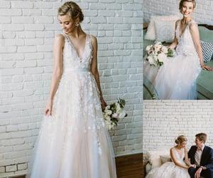 wedding dresses, boho wedding dresses, and bridal gowns image
