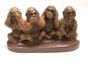 etsy, hear no evil, and 3 monkeys image