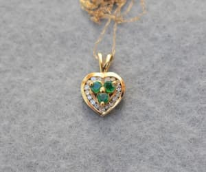 etsy, heart jewelry, and simulated diamond image