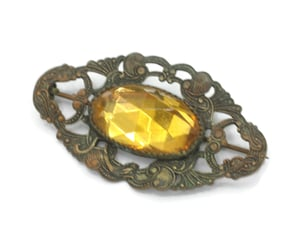 vintagestyle, antique brooch, and czech brooch image