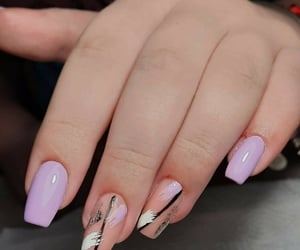 march, nails, and purple image