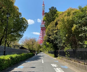 aesthetic, tokyo tower, and anime image