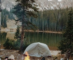 nature, camping, and lake image
