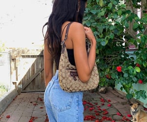 outfit inspiration, summer tan, and dark curly hair image