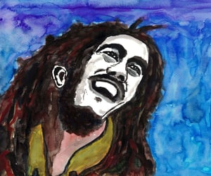 bob marley, drawing, and ilustracion image