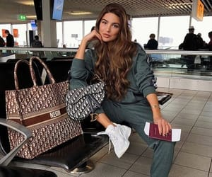 airport, bag, and fashion image