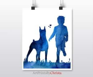etsy, printable, and dog art print image