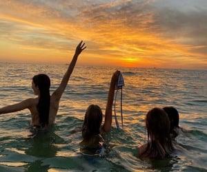 sea, beach, and bikini image