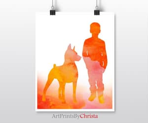 etsy, dog art print, and birthday gift image