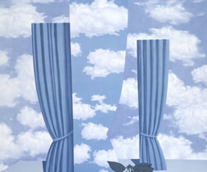 art, blue, and magritte image