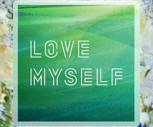flowers, qoute, and love myself image