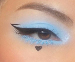 makeup, aesthetic, and eyeliner image