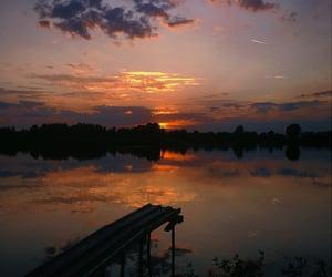 bridge, rus, and sunset image