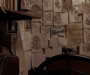drawing, dark academia, and art image