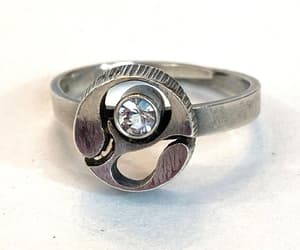 rings, sterling silver, and jewelry gift for her image