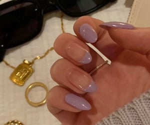 nails, jewelry, and lilac image