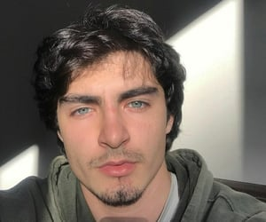 black hair, blue eyes, and boy image