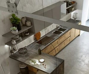 cocina, dinner, and grey image