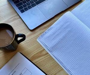 coffee, homework, and study image