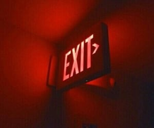 red, aesthetic, and exit image