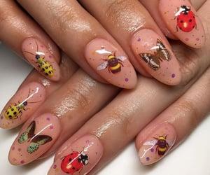 acrylics, glossy, and long nails image