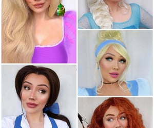belle, disneyland, and makeup image