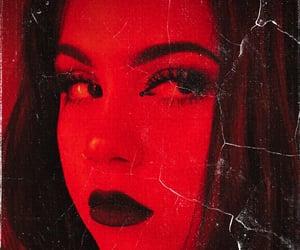 aries, black lipstick, and girl image