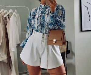 accessories, fashion, and high waisted shorts image