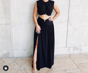 fashion, two piece, and leg slit image