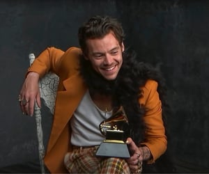 grammys, Harry Styles, and happy image