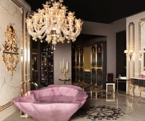 luxury, home, and gold image