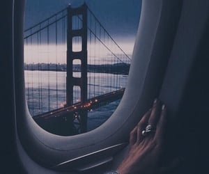 atmosphere, Flying, and golden gate bridge image