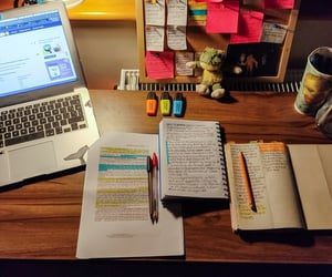 hard work, notebook, and notes image