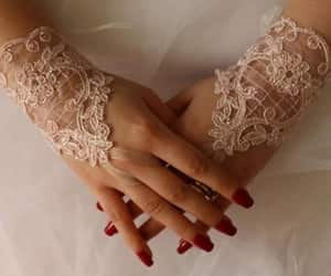 accesories, pink lace gloves, and costume gloves image
