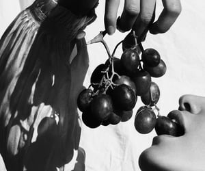 black and white, fruit, and photography image
