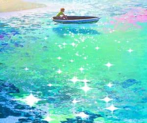 boat, sea, and illustration image
