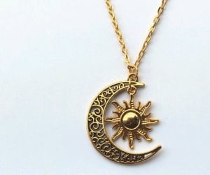 moon, sun, and gold image