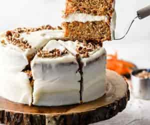 cake, carrot cake, and dessert image