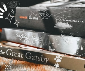 books, the great gatsby, and wuthering heights image