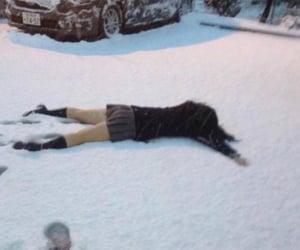 japan, schoolgirl, and snow image